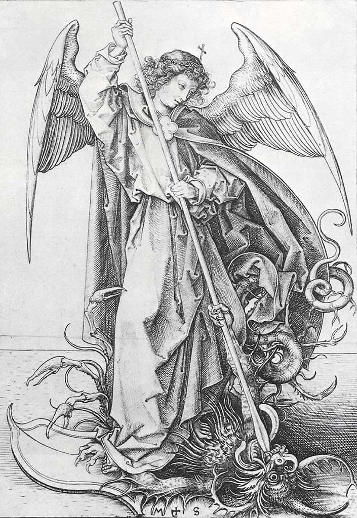 The Archangel Michael Piercing the Dragon