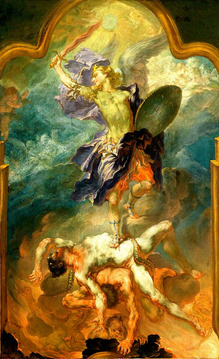 Wolfgang-Andreas-Heindl--Saint-Michael-the-Archangel-Vanquishing-the-Devil