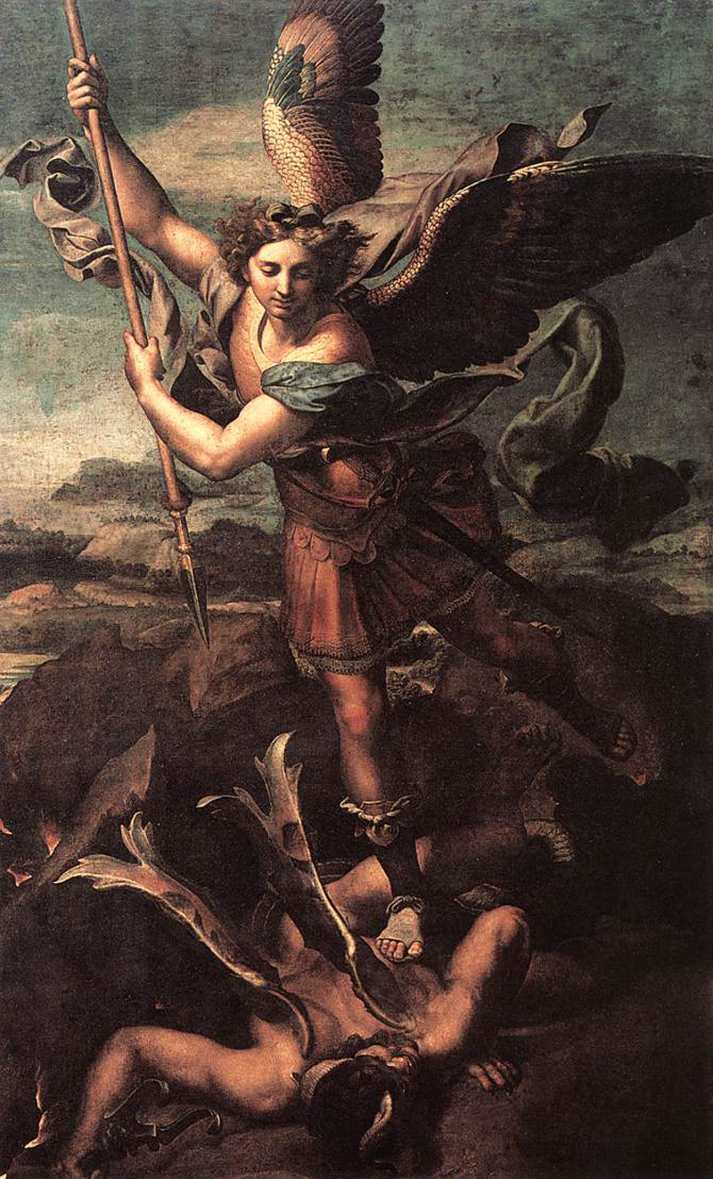 st_michael_vanquishing_satan Raphael Sanzio (Raffaello)