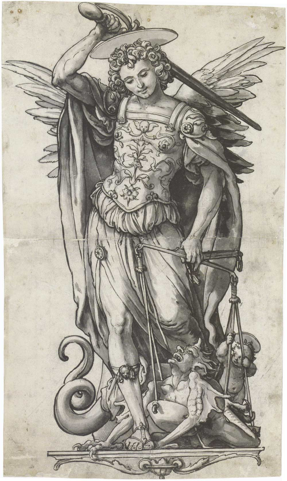 Hans-Holbein-the-Younger-Archangel-Michael-Weighing-Souls